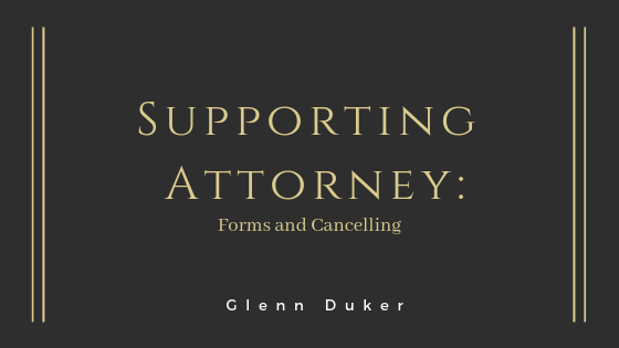 Forms and Cancelling- Glenn Duker